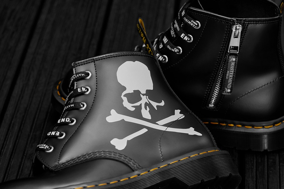54995cb2af5 END. x mastermind WORLD x Dr. Martens 101 Boots | HYPEBEAST
