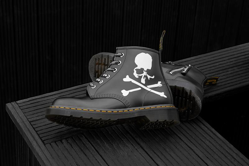 END. x MASTERMIND World x Dr. Martens 101 boots release info leather skull graphic internal side zipper drop raffle date price buy colorway