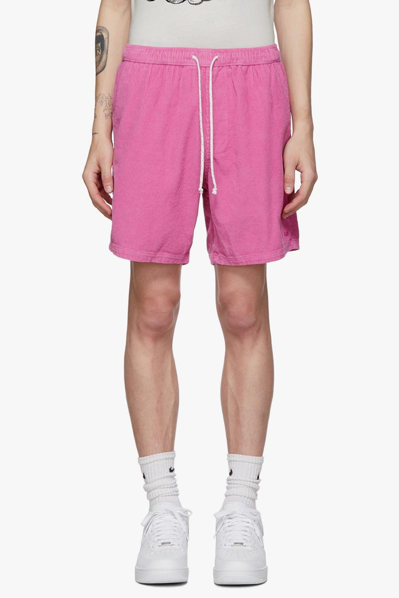 ERL for SSENSE SS19 Pink Corduroy Nike Socks sport colorway blue wash Eli Russell Linnetz Jordan Wolfson collaboration exclusive spring summer 2019 logo embroidery