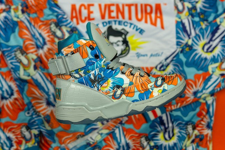 low priced 8234d 6a930 Ewing Athletics Pays Homage to  Ace Ventura  With Floral Print 33 HI