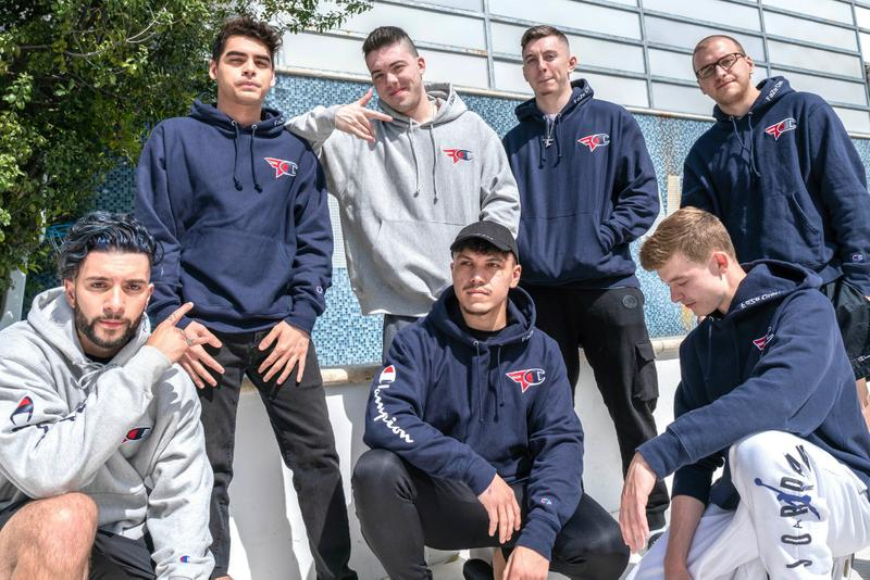 faze clan champion 20 2 0 second 2nd collab collaboration collection ss19 spring summer 2019 where to buy purchase hoodie pullover sweater sweatshirt blue grey gray sweatpants pants