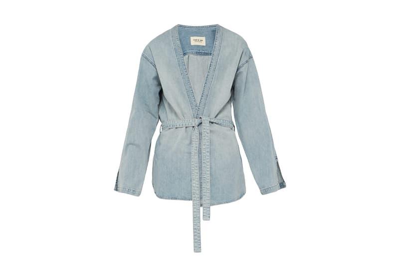 Fear of God Checked Flannel Robe & Denim Kimono Jacket Release Info Jerry Lorenzo MATCHESFASHION.COM drop pricing stockist date workwear japanese americana