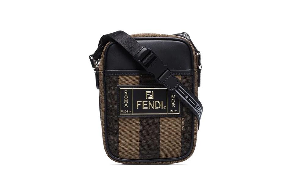 93cbbd5d02ae Fendi Brown Pequin Striped Messenger Bag Release