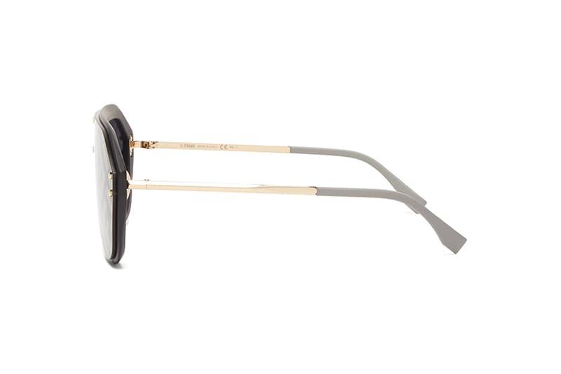 Fendi FF Logo Aviator Sunglasses Release