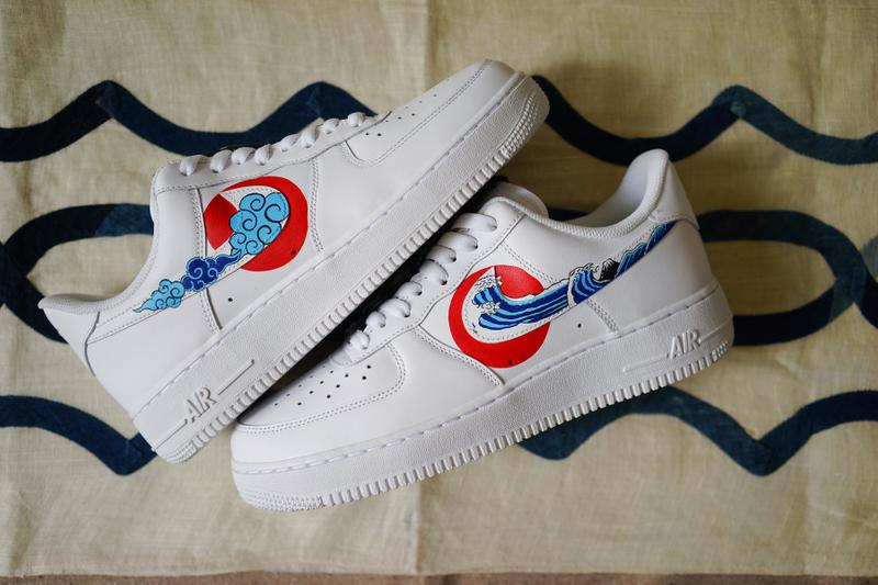 quality design 9998e d4c23 The Flying Hawk Studio Air Force 1 Custom simple union air force 1 ukiyo e  hand