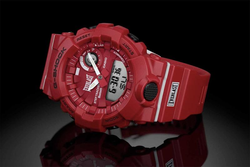 G-Shock x Everlast Casio Watch Timepiece Collaboration Boxing Gear Company GBA-800 G-SQUAD Series Bluetooth Smartphone Function