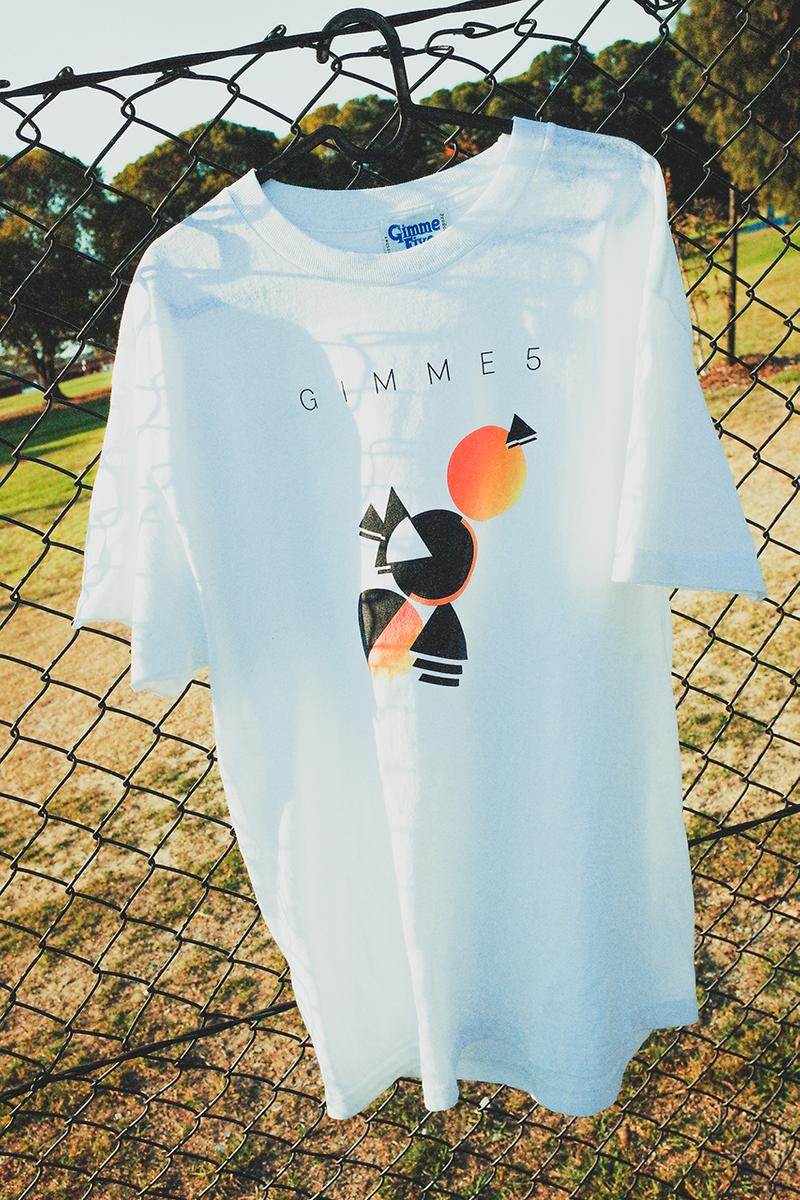 "Gimme 5 ""All Night Long"" Capsule Collection 1980s Release T-Shirt Drop Michael Kopelman Lionel Richie Bauhaus Art Geometric Luther Vandross Graphic Retro"