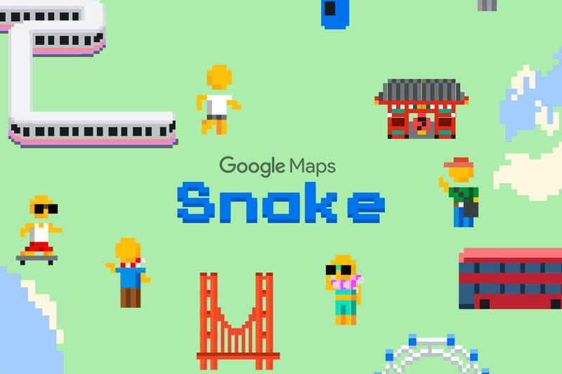 Google Maps Adds 'Snake' Game for April Fools' Day gaming maps apps