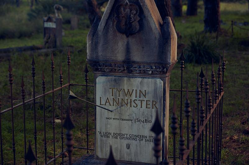 'Game of Thrones' got 'Grave of Thrones' Cemetery Appears in Sydney joffrey hodor khal drogo baratheon tyrell high sparrow oberyn martell petyr littlefinger baelish ros ramsay bolton stark tywin lannister walder frey wun wun westeros