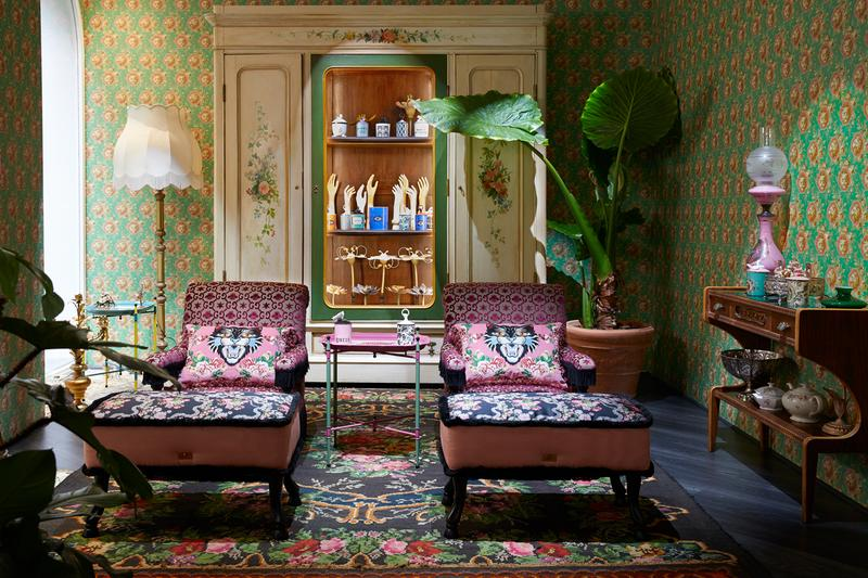 gucci decor milan temporary store salone del mobile furniture fair