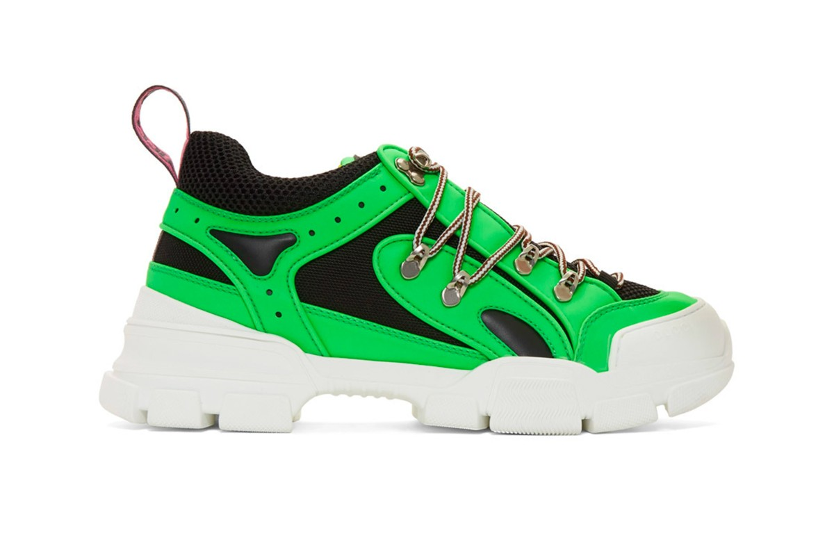 Gucci Green Flashtrek Sneakers Release Info