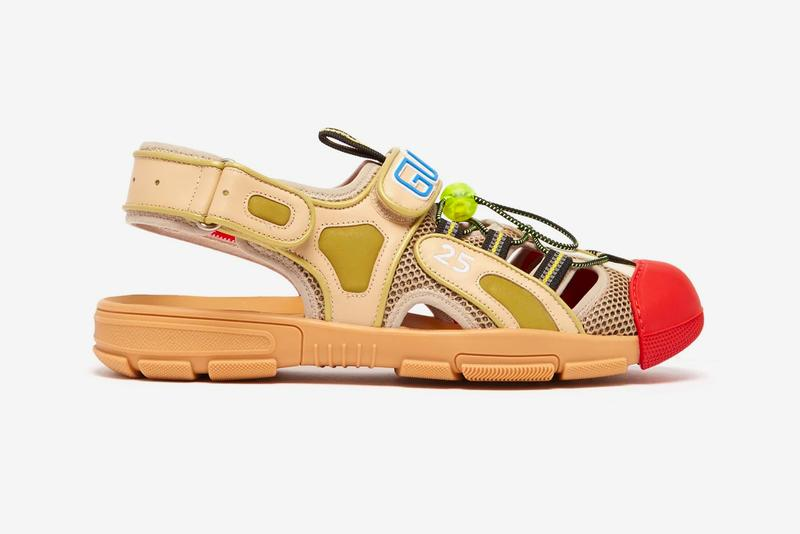 e092d72070ca Gucci Leather and Mesh Sandals Release Info Alessandro Michele neoprene  rubber drop date price buy now