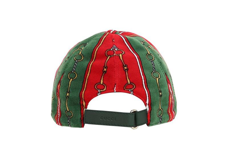 Gucci Printed Chenille Baseball Hat Release Luisaviaroma caps accessories hats