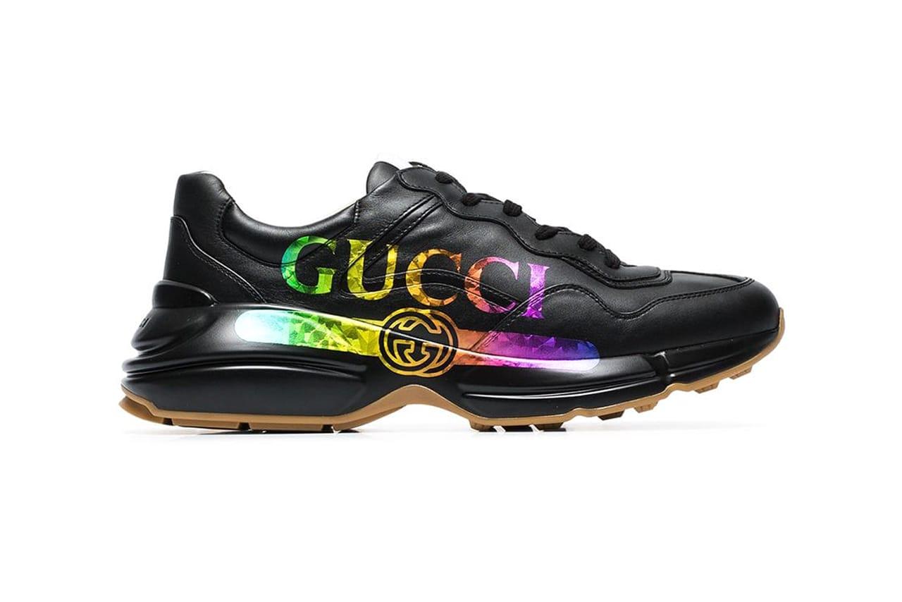Gucci Rhyton Logo Sneakers Multicolor