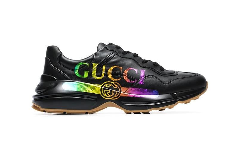 bc48bdee3 Gucci Rhyton Logo Sneakers Multicolor Release | HYPEBEAST