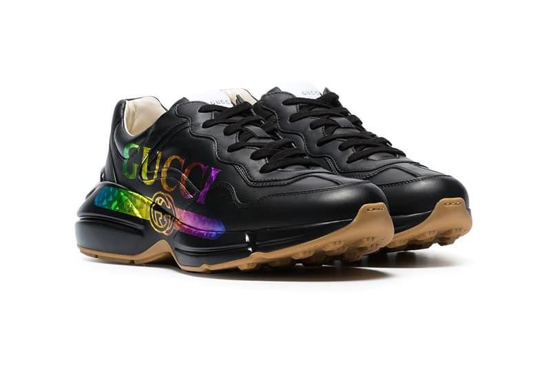 gucci rhyton logo multicolor sneakers release