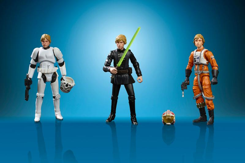 Hasbro Retro Star Wars Figurines Release Info luke skywalker darth vader boba fett vintage toys