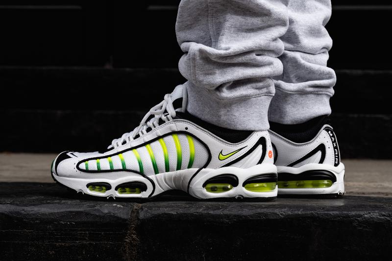 wholesale dealer ce3a5 31fb9 nike air max tailwind 4 volt green white colorway sneaker release