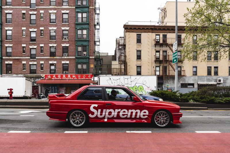 Supreme BMW M3 E30 Hot Wheels and Full Size Model Red Bimmer Wide Body Eric Whiteback Photoshoot