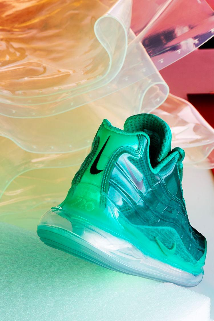 Heron Preston Nike By You Air Max 720/95 Closer Look red black blue pink green
