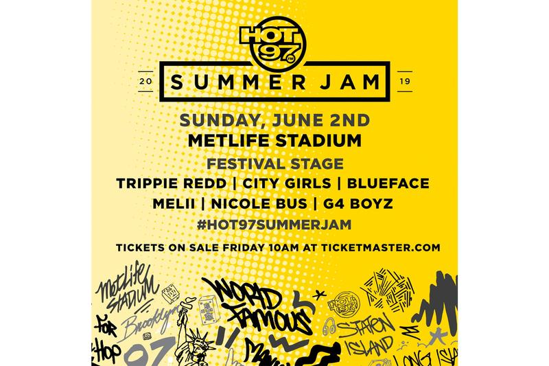 Hot 97 Lineup Announcement For Summer Jam 2019 hip-hop rap music cardi b migos meek mill tory lanez Melii Megan Thee Stallion Kash Doll City Girls Casanova Davido Rich the Kid A Boogie wit Da Hoodie BlueFace Trippie Redd Melii City Girls G4 Boyz and Friends Nicole Bus