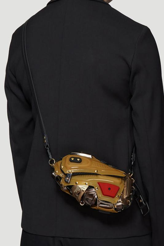 Innerraum Armored Clutch Cross Body Bag in Gold bags ln-cc