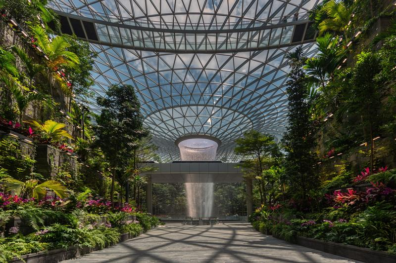 jewel changi airport singapore worlds tallest indoor waterfall grand opening 2019