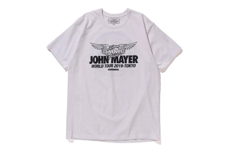 John Mayer x NEIGHBORHOOD 2019 Tour Merchandise Collaboration collection release party dj shinsuke takizawa hoodie tee shirt racing team japan april collection capsule