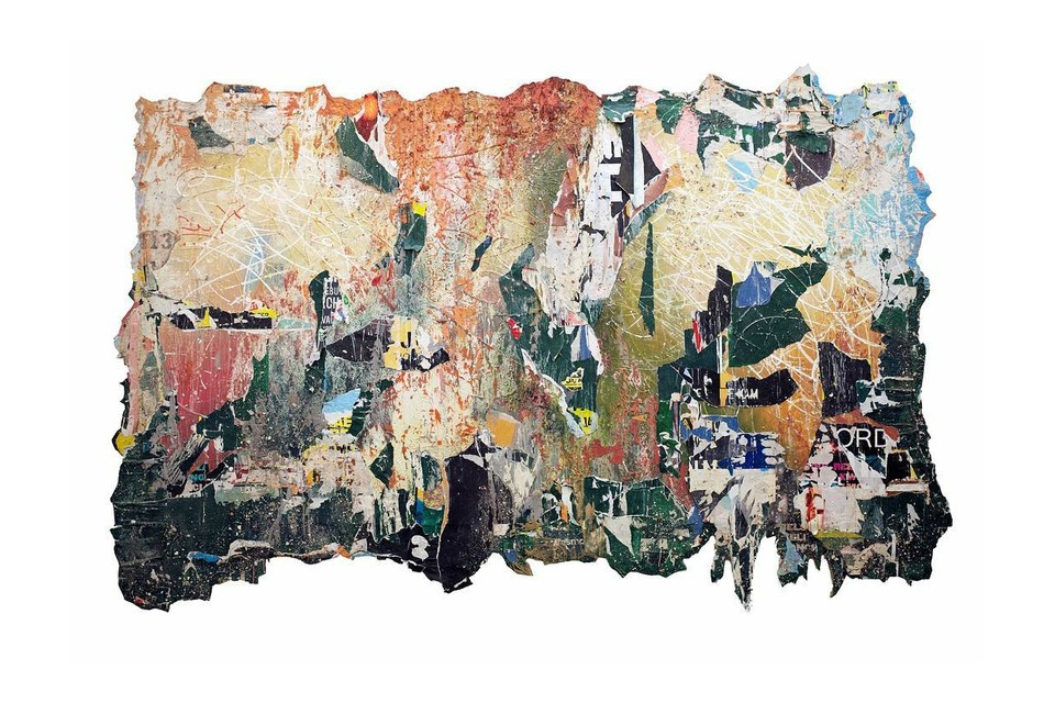 José Parlá's Latest Hand-Painted Collages Evoke NYC's Homeless