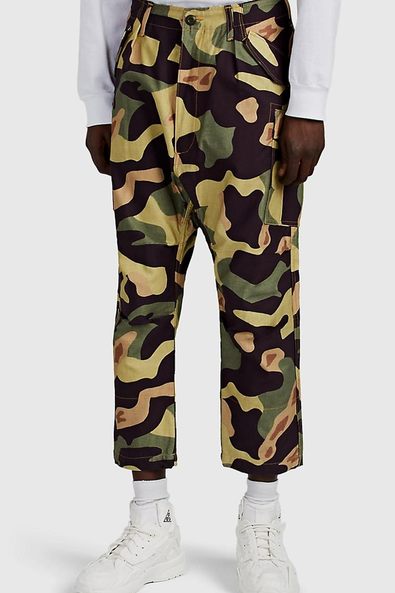 junya watanabe man camouflage pants spring summer 2019 ss19 panel drop crotch japan collection release date buy