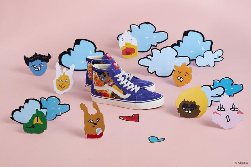 Kakao Friends Hyunye Vans Sneaker Collection KakaoTalk Social Media App footwear shoes old skool era slip on 2019 spring summer ss19 april release date info price when cost may 3 buy details orange purple light blue