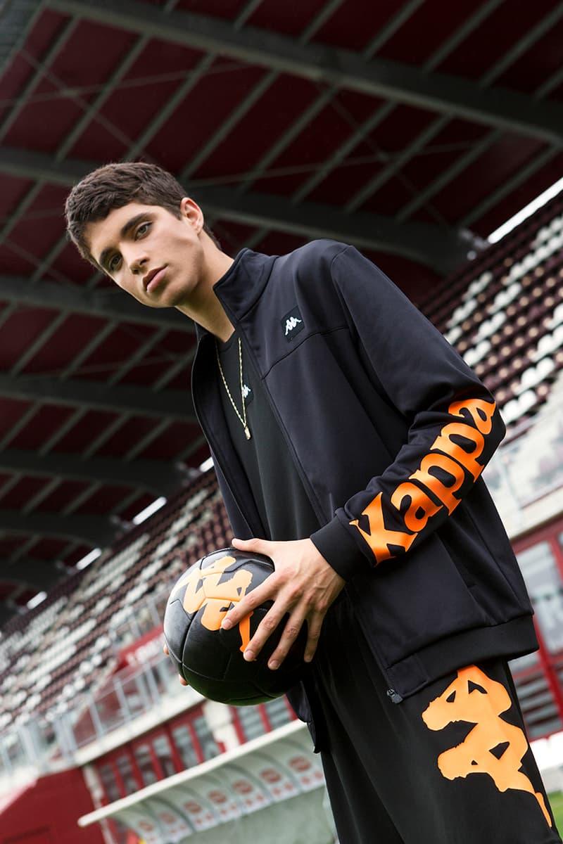 Kappa Launches Football-Infused Kalcio Collection lookbooks soccer black calcio italian