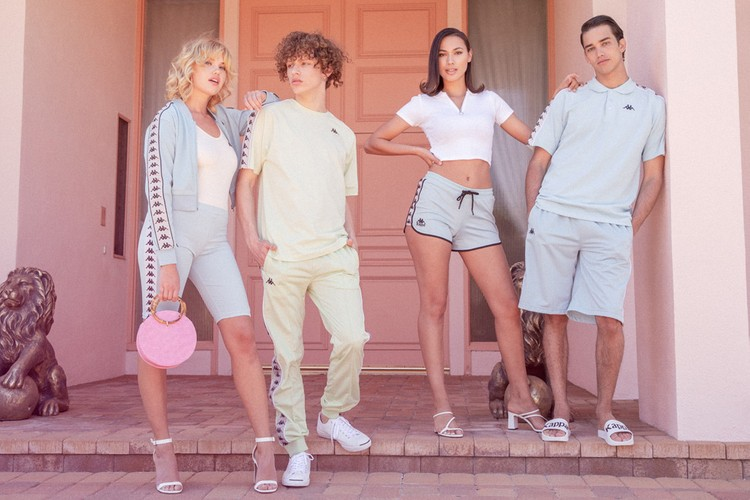 1ac5fa36931d2f Kappa Authentic s Retro Summer  19 Campaign Is Splashed With Pastels