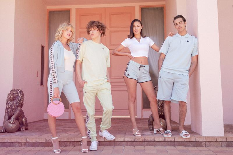 kappa sport summer 2019 campaign collection lookbook images release pastel sportswear banda rastoriazz
