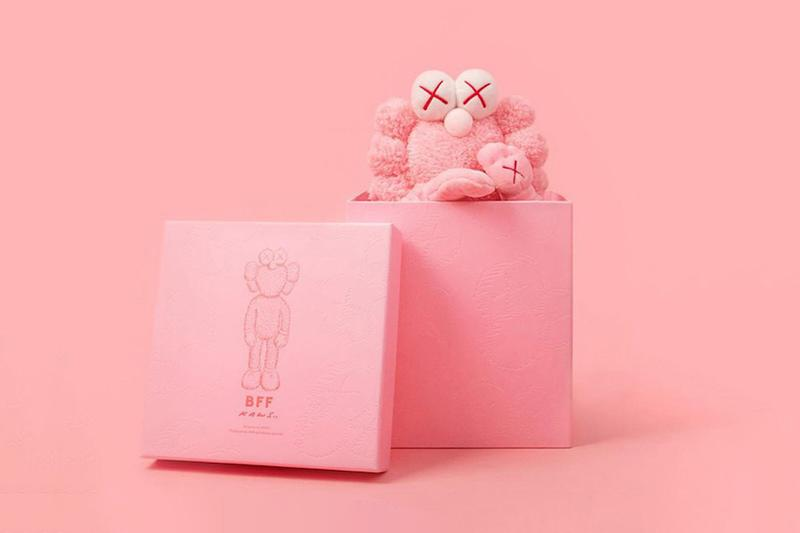 KAWS bff pink plush doll edition collectible release artwork