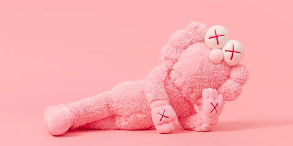 Kaws Bff Pink Plush Edition Release Hypebeast
