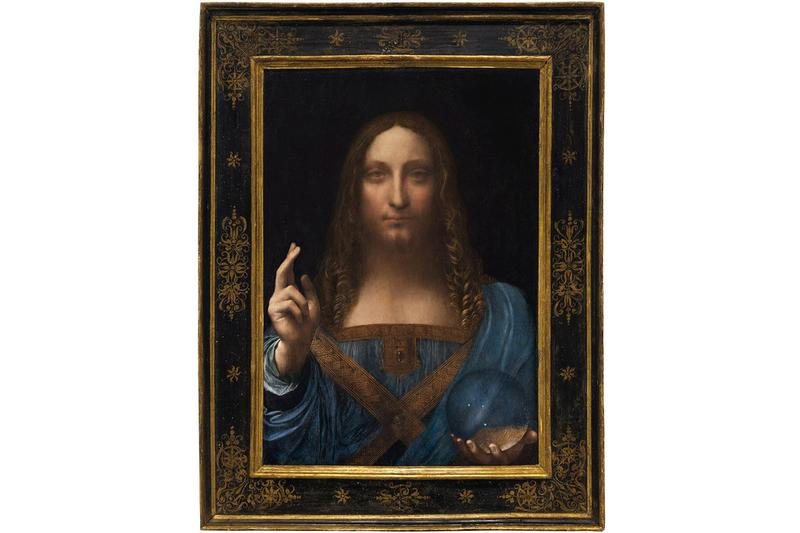 leonardo da vinci salvator mundi painting artwork musee lourve christies