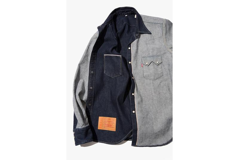 Levis x BEAMS Japan Inside Out Denim Collection Spring Summer 2019 SS19 Lookbook Kimono T-Shirt Western Shirt Trucker Jacket Selvedge 501 Graphic exclusive japan collaboration