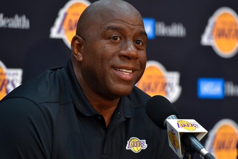 Magic Johnson Step Down Los Angeles Lakers President Basketball Operations NBA