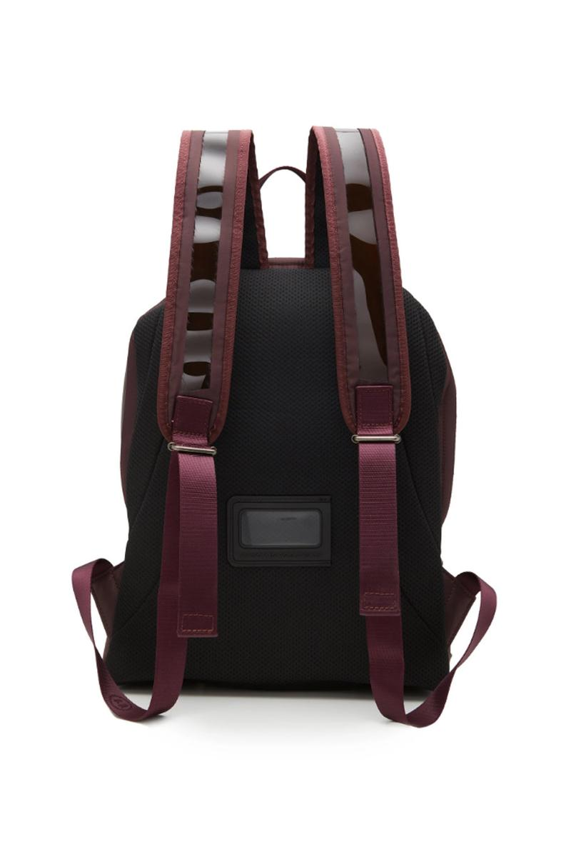 maison margiela canvas trimmed pvc backpack burgundy color bookbag spring summer 2019 release