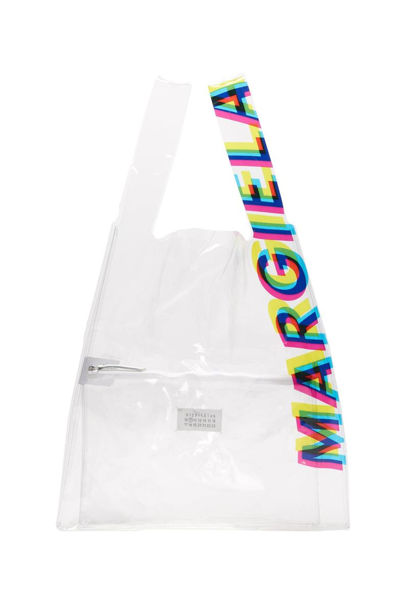 maison margiela transparent pvc shopping bag tote