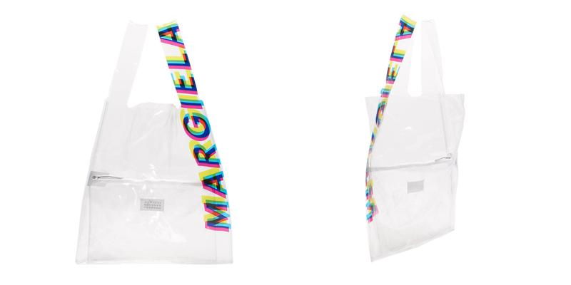 maison margiela transparent pvc shopping bag tote