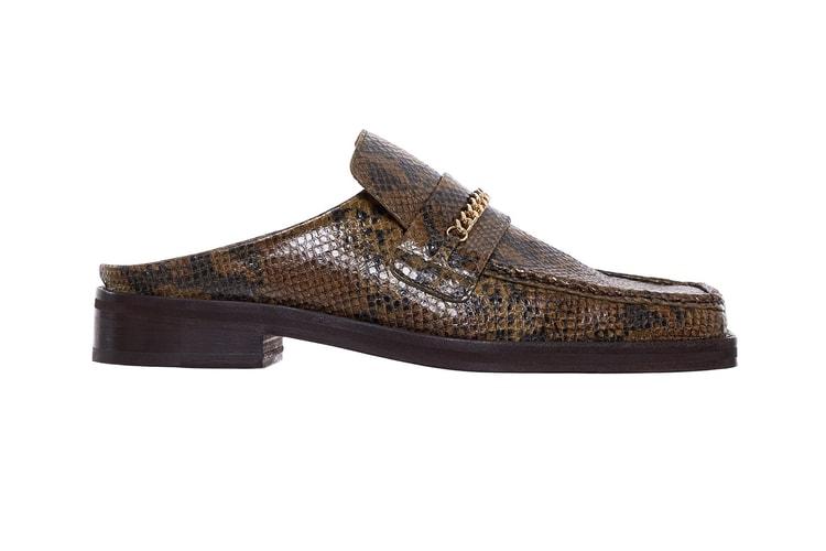 b26b33c067f2 Martine Rose Drops $550 USD Square Toe Python Loafers