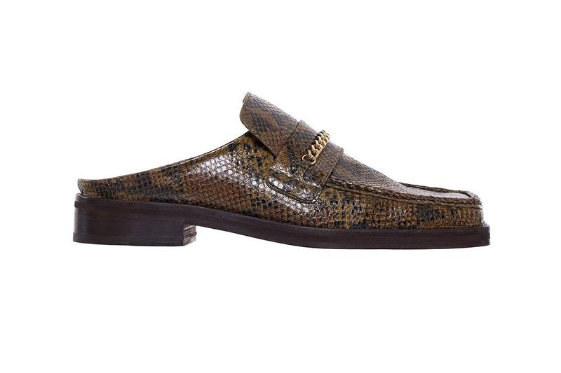 Martine Rose Drops $550 USD Square Toe Python Loafers