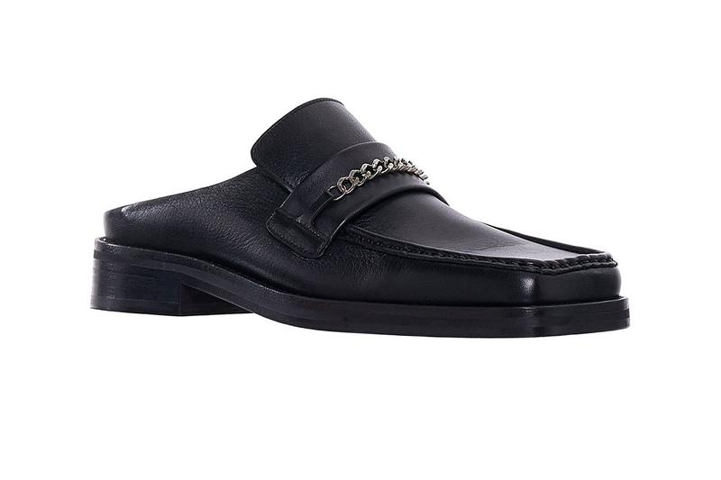 Martine Rose Drops Elevated Slip-On Loafers Python Leather Black Leather Square Toe Fashion Streetwear Shoes Footwear Luxury ss19 spring summer 2019