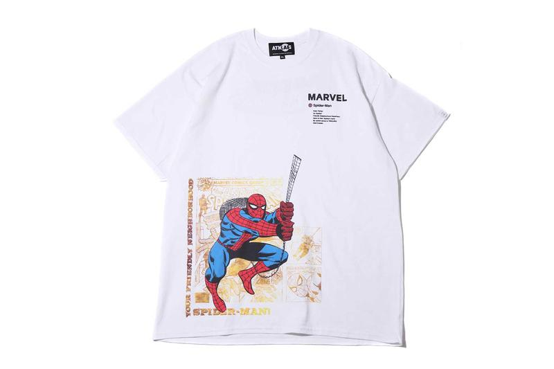 Marvel atmos Lab T-shirts Spring Summer 2019 SS19 Spider Man Captain America Iron Man Hulk Branded Box Logo Tee Collaboration Capsule Collection Japan Avengers Endgame