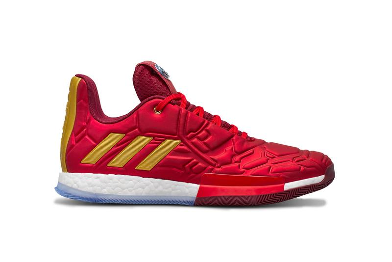 "Marvel x adidas ""Heroes Among Us"" Sneaker Pack studios basketball collaboration collection april 26 2019 james harden damian lillard candace parker john wall tracy mcgrady iron man black panther captain america nick fury captain marvel"