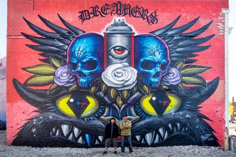 mercedes benz usa daniel bombardier maxx gramajo james dabls lewis jeff soto artworks murals street art detroit eastern market