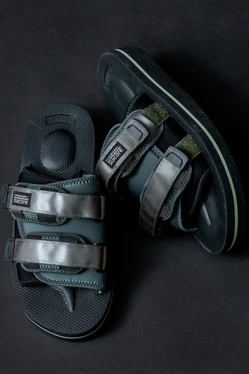 monkey time x Suicoke MOTO-VMT SS19 Collaboration spring summer 2019 sandals slide black olive colorway may 2019 release date info drop buy shoe japan