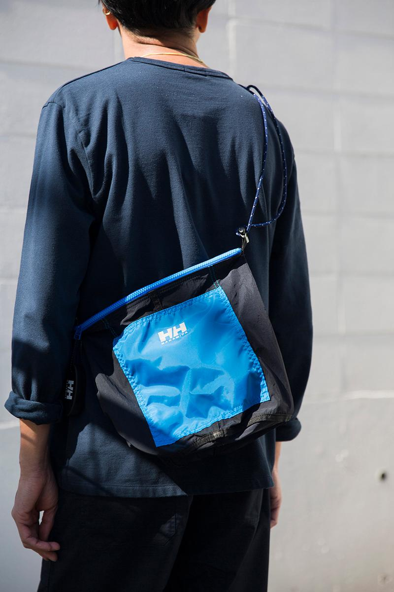 Nanamica Helly Hansen Collaboration Capsule Collection Spring Summer 2019 SS19 Shoulder Bags Military Nautical Theme Water Repellent Nylon Taffeta Bright Royal Blue Neon Yellow